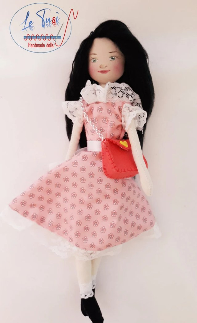 Handmade cloth doll, clot...
