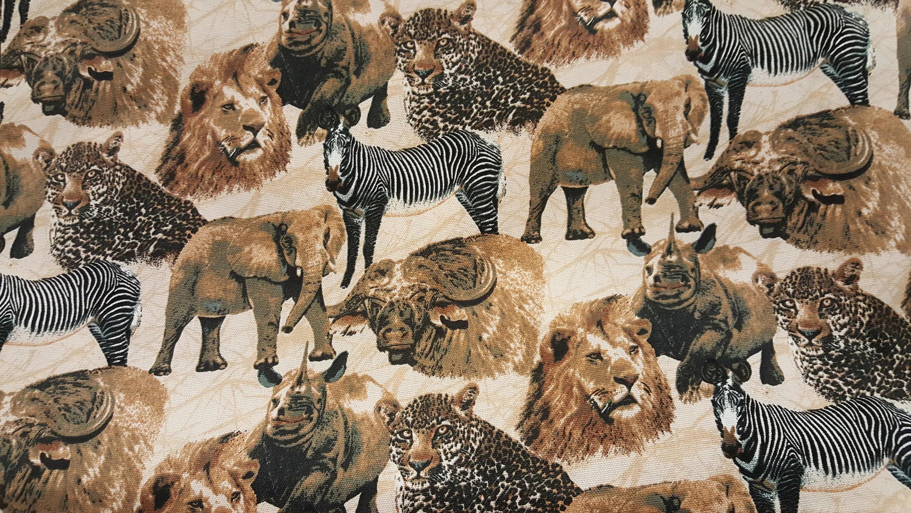 South African Animal Print Heavy Duty Cotton Fabric Sold