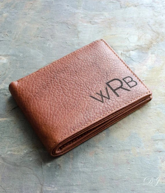 Monogrammed Leather Wallet