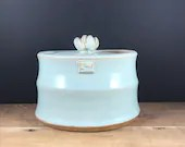 Blue Oval Jar