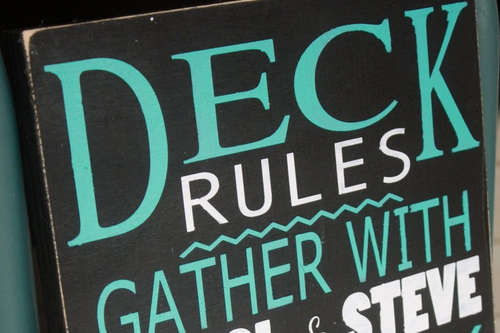 Deck rules sign patio rules personalized outdoor Wooden image 4
