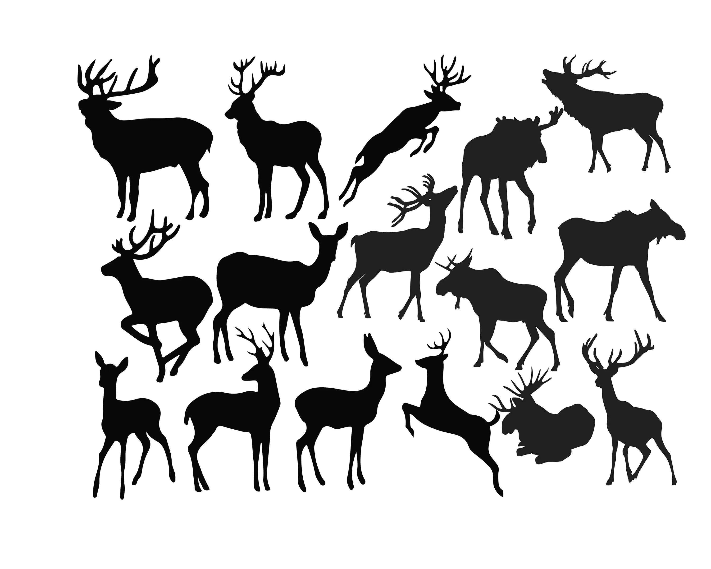 Deer Silhouette Deer Clipart Animal Clip Art Wild Animal