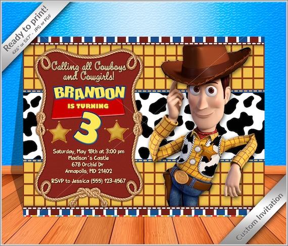 woody cowboy birthday party invitation