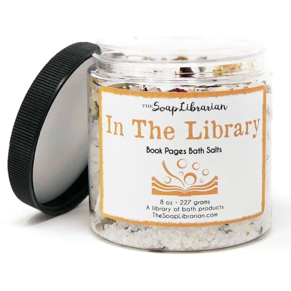 In the Library bath salts by the Soap Librarian - bookish gift ideas 2020