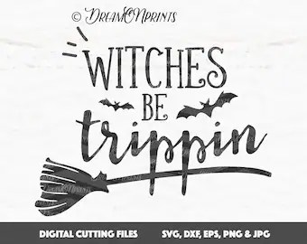 Download Happy Halloween Witch Broom SVG Cutting File Cutting File