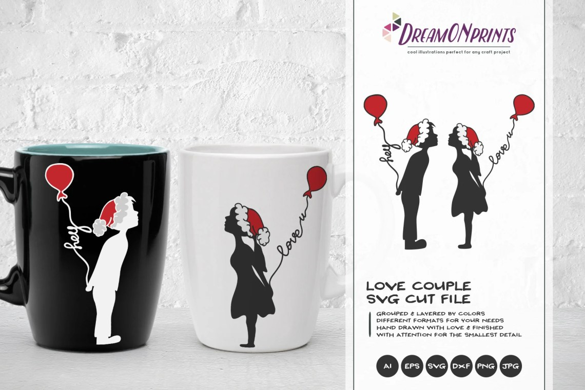 Download Christmas couple SVG Love Design   Love SVG   Boy and Girl ...