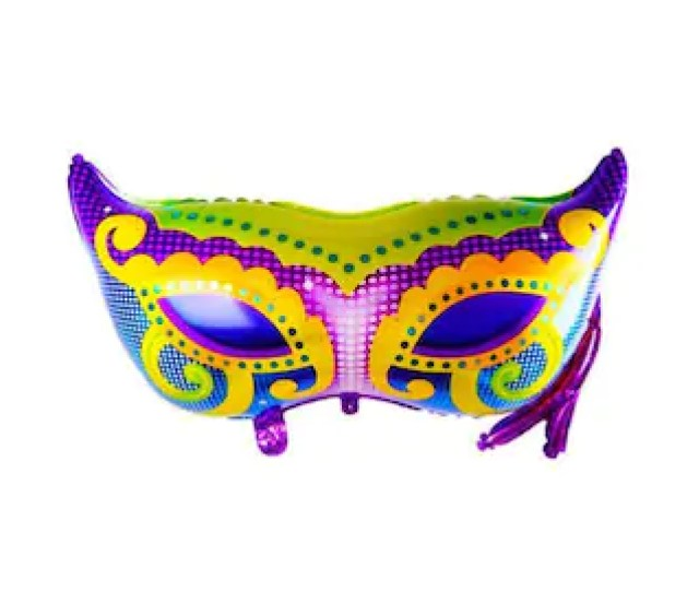 Mardi Gras Party Balloon Large  Mylar New Orleans Mask Mardi Gras Parade Party Decor Fat Tuesday Celebration Decoration Balloon Prop