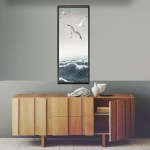 Vertical Woodblock Print Woodblock Japanese Wall Art Three