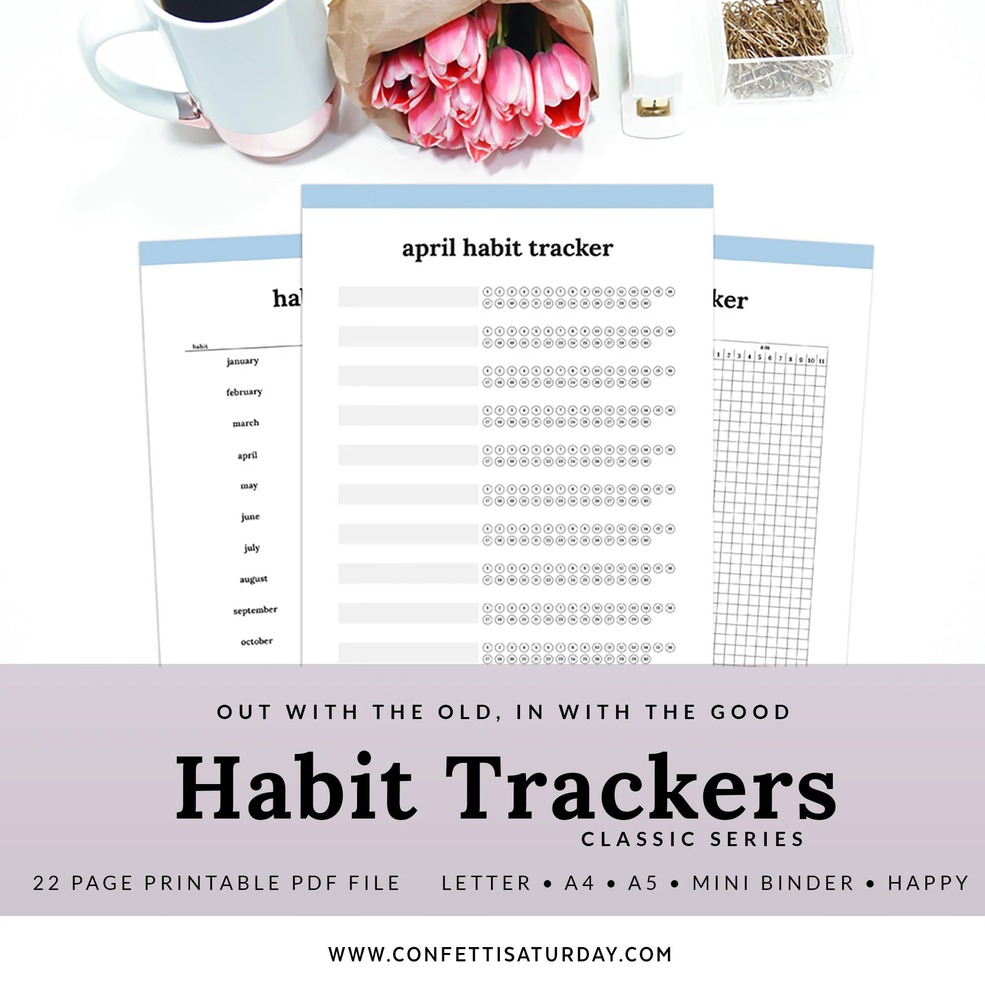 Printable Habit Tracker Planner Page Phab A Instant