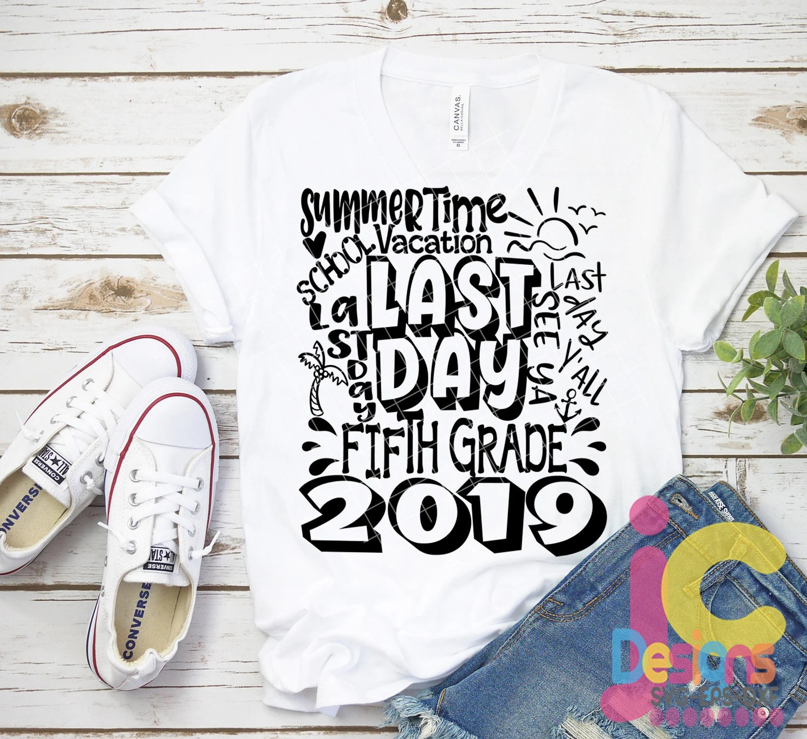 5th Grade Fifth Grade Last Day Svg Typography Of