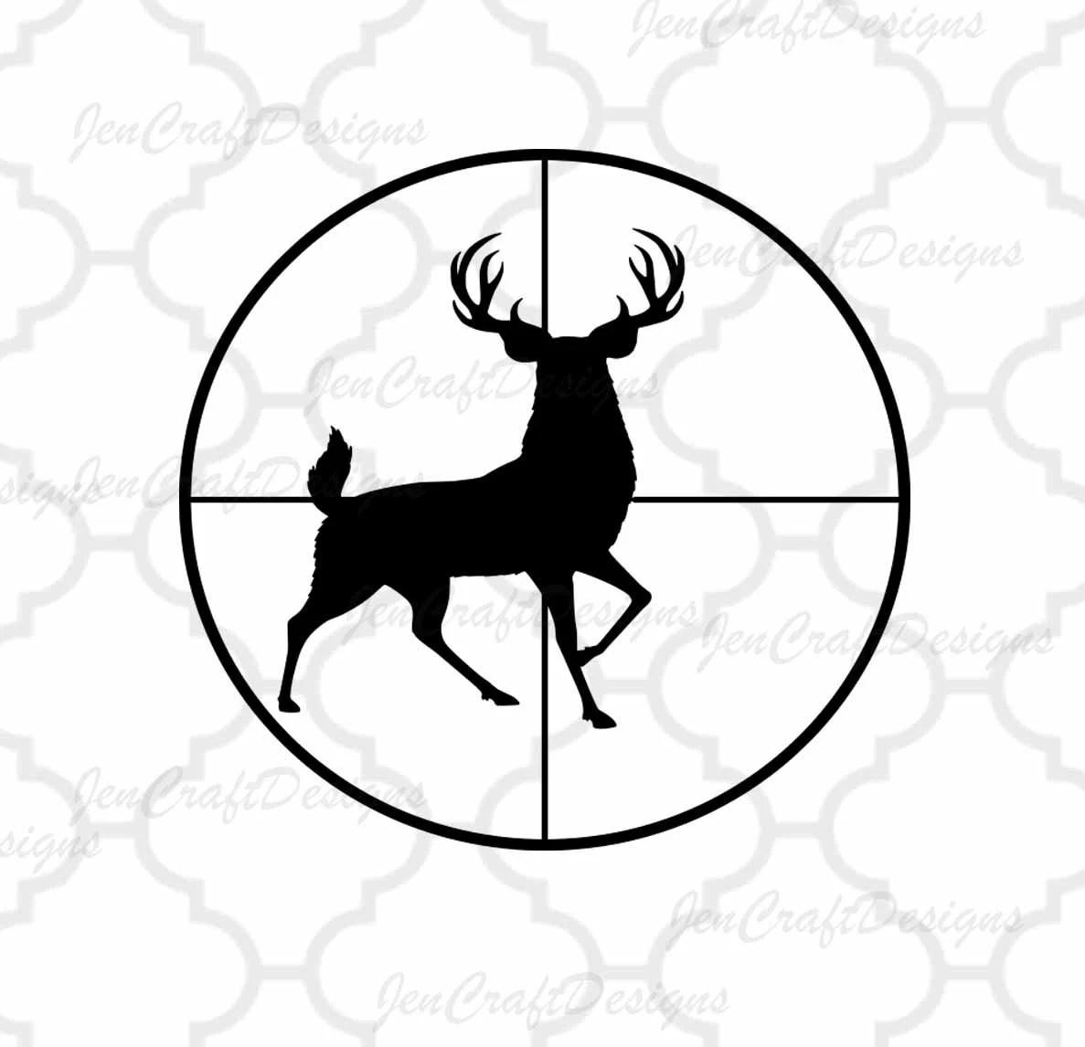 Deer Svg Buck In Gun Sights Crosshair Cutting File Hunting