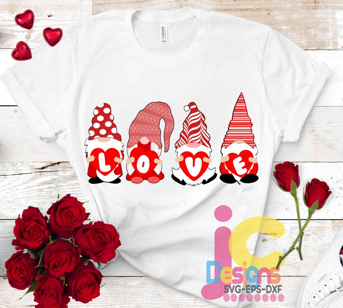 Download Valentine Gnome SVG, Love svg, Valentine's Day, Gnomes ...
