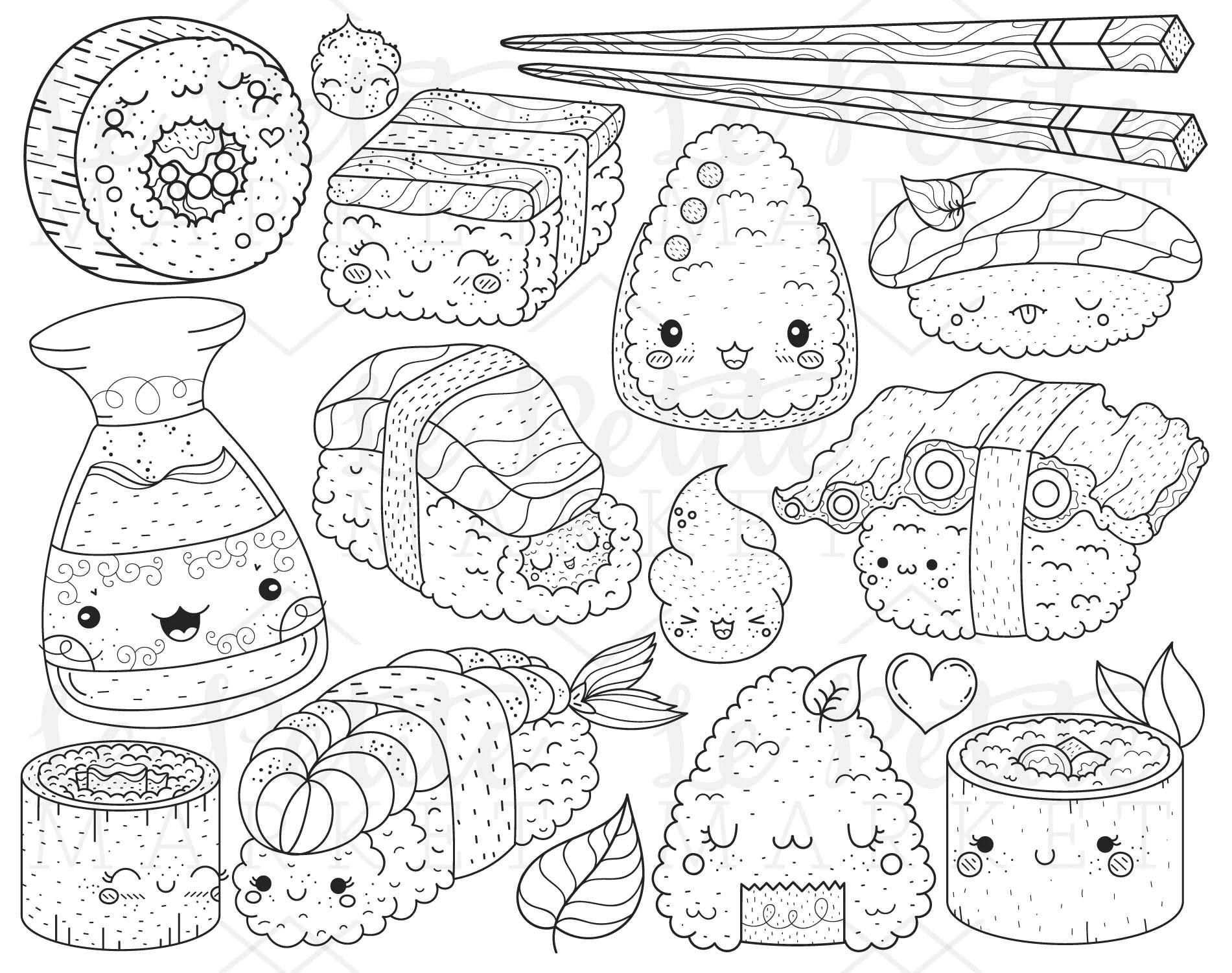 Immagini Clipart Di Giappone Sushi Kawaii Cibo Clipart