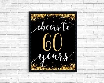 Download Cheers to 60 years | Etsy
