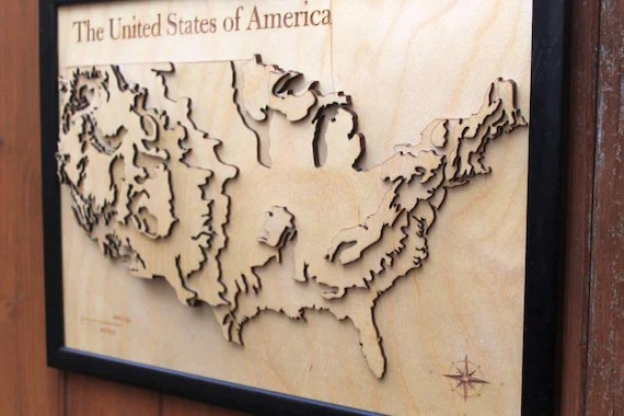 We look at a few excerpts to see how much we're driving and what we're eating. 3d Usa Map Wooden Topographical Map United States Of America Map