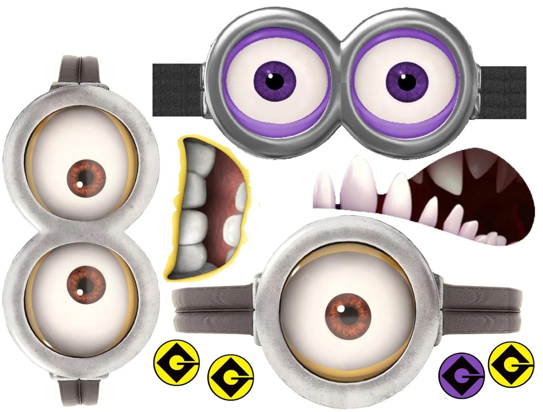 Minion Minion Movie Minion Eyes And Mouths Purple And