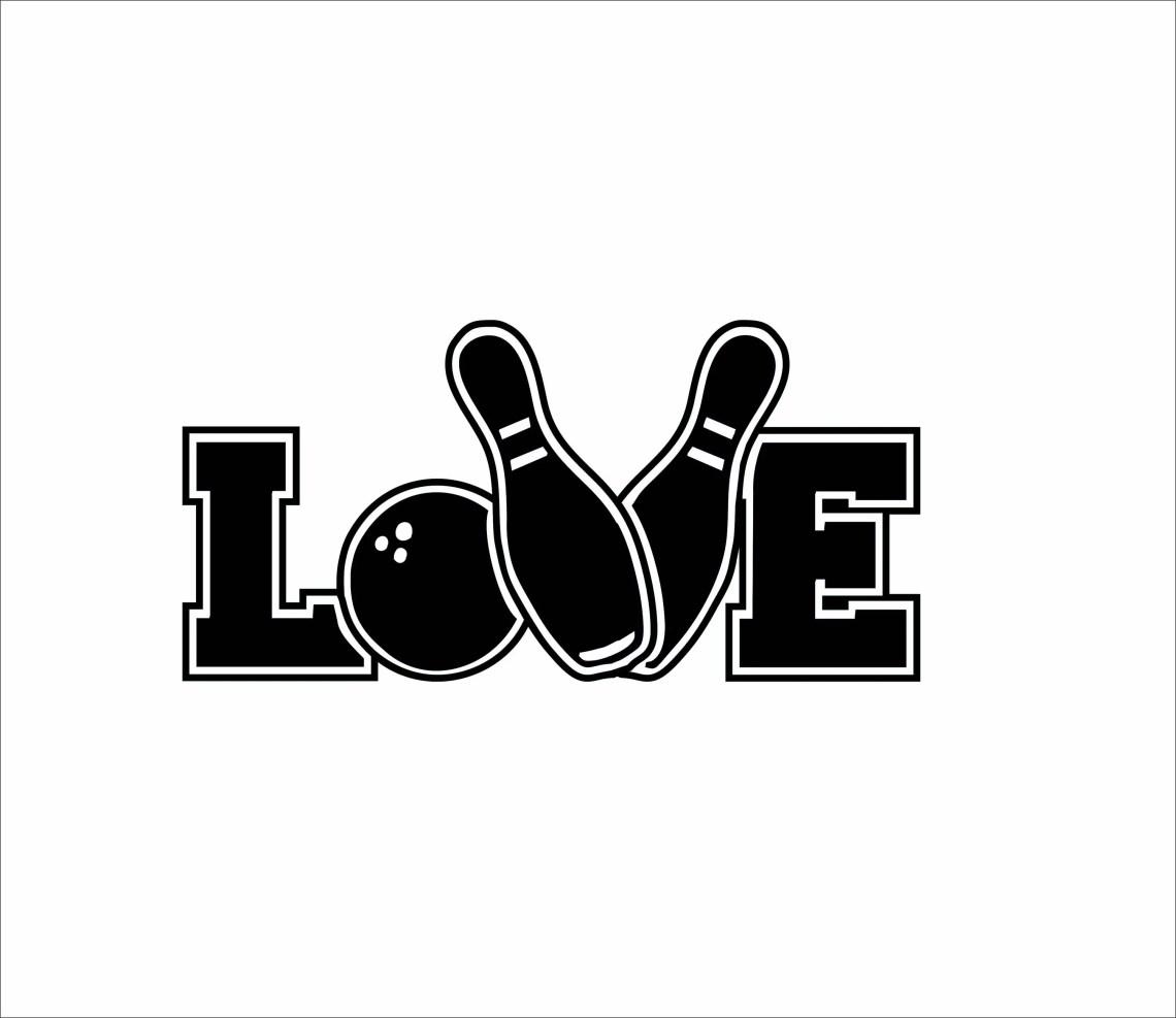 Download Bowling Love Digital File SVG, ESP, PNG, Jpg File