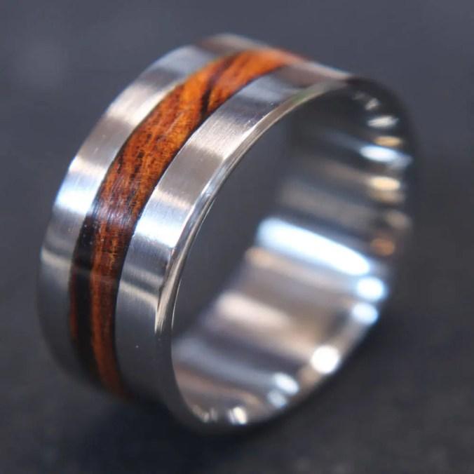 Titanium & Iron wood inla...