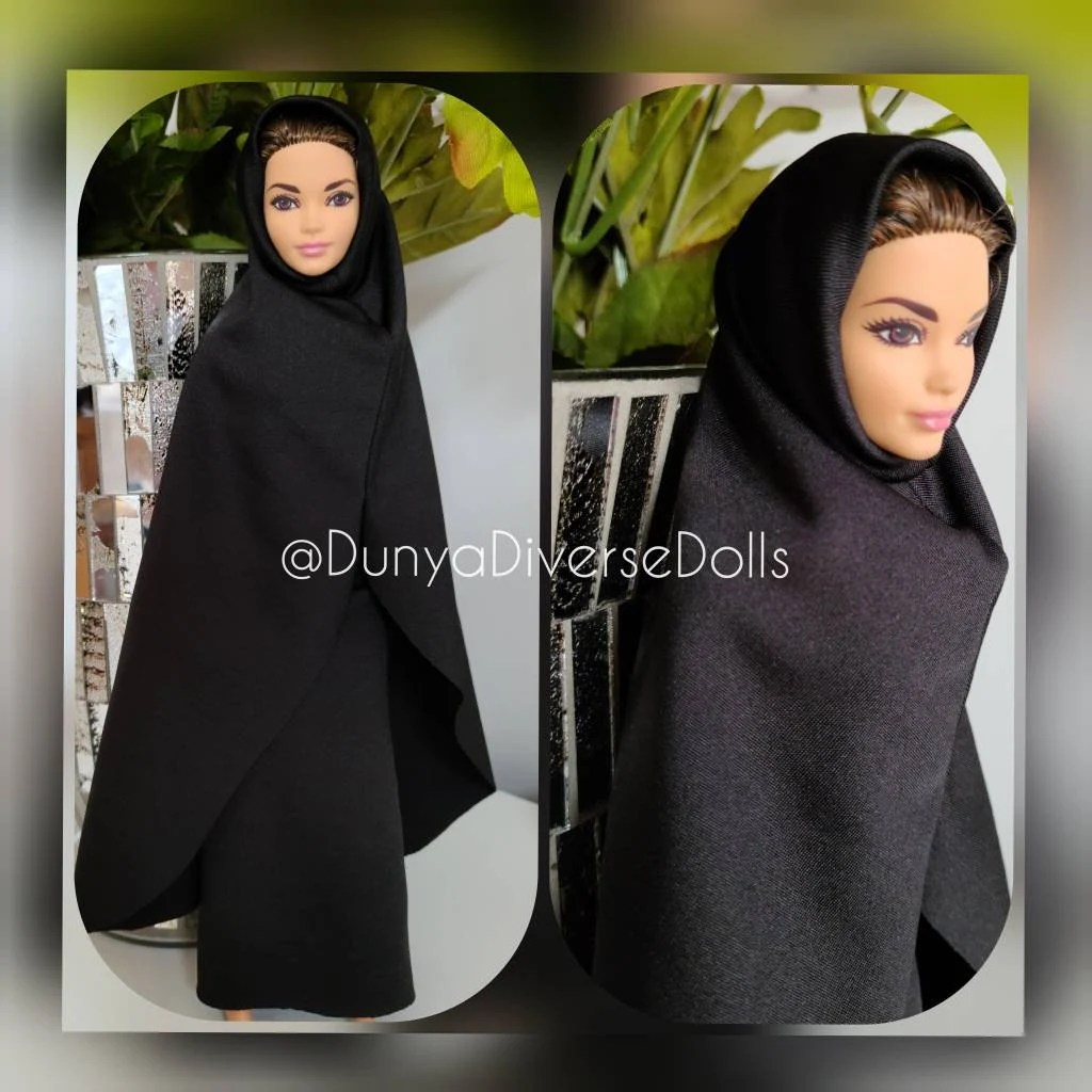Tall, white, slim and blonde has been barbie's most memorable traits for decades. Barbie Black Abaya Muslim Hijab Hijarbie Doll Outfit Only Etsy