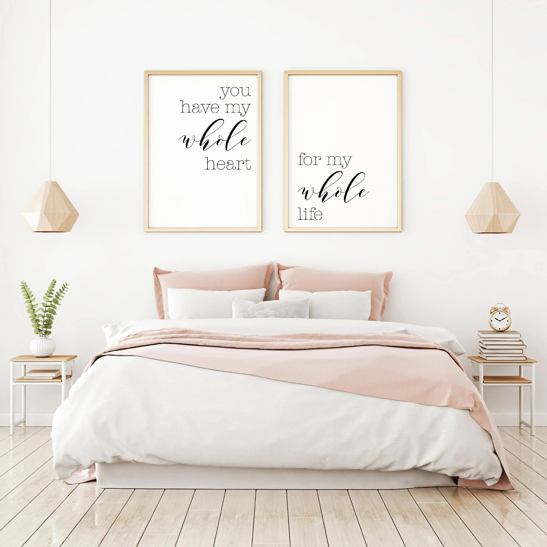 Bedroom Wall Decor Ideas Home Decor Wall Art Master ... on Bedroom Wall Decor  id=37808