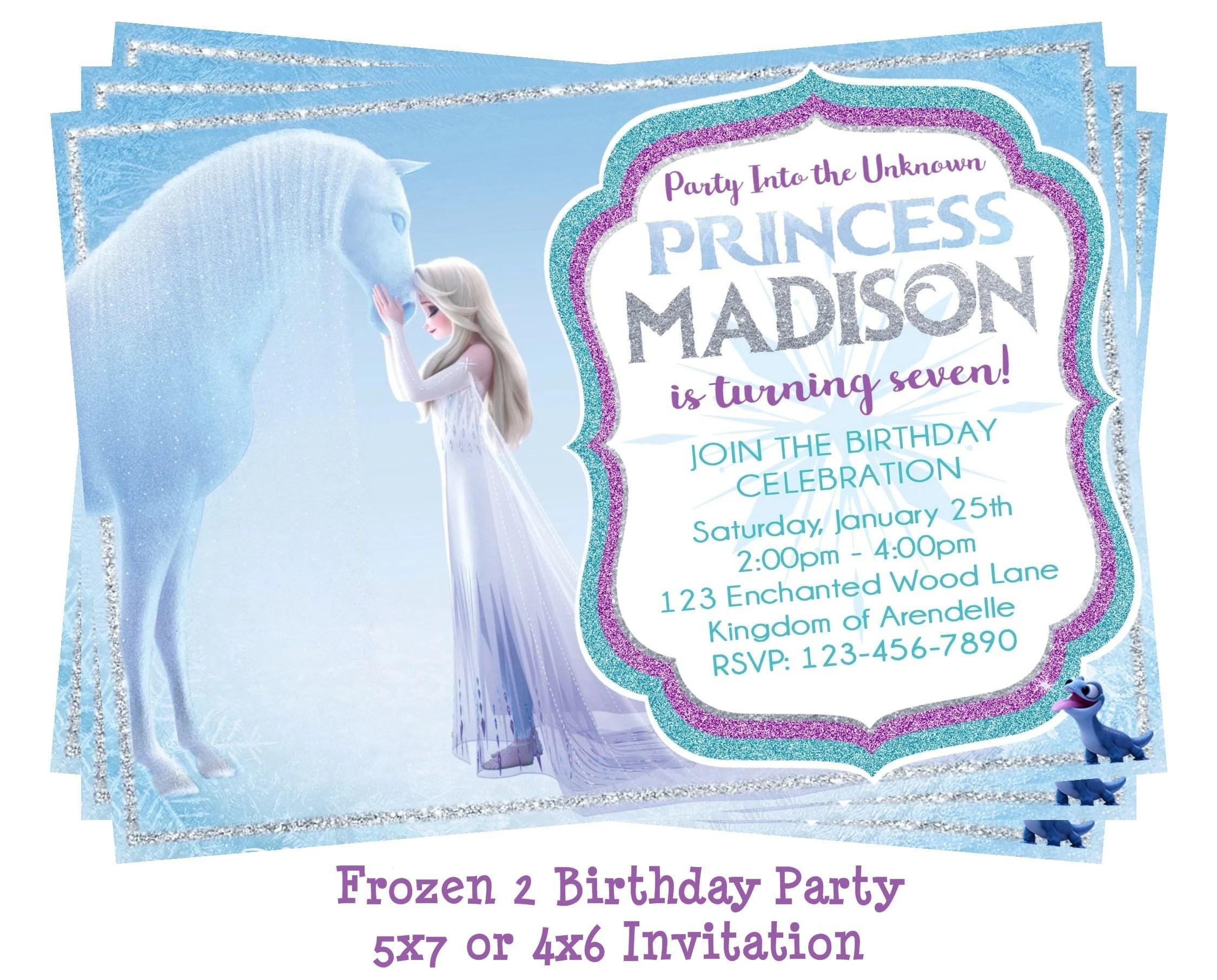 frozen 2 birthday invitation frozen 2 invitation frozen 2 party invitation elsa invitation printable 5x7 4x6 digital download