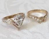 Vintage Pear Shape Diamond Engagement Ring ~ 14K Yellow...read more