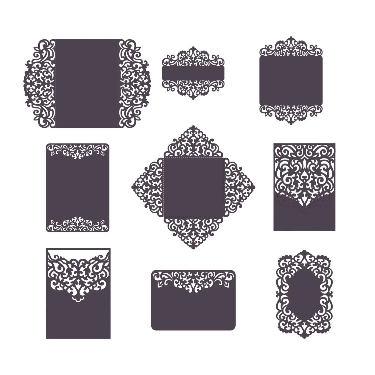 The cut area is no bigger then 9x6, i was hoping to get the part cut out of.04 clear lexan, i can supply if needed. Set Laser Cut Wedding Invitation Templates Card Envelope Etsy