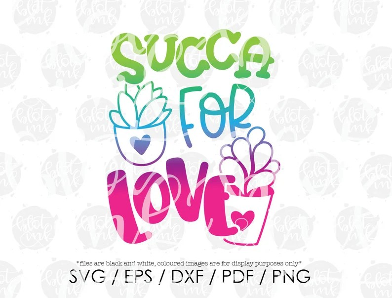 Download Succa For Love SVG Cute Kids Boy Girl Valentines Cactus | Etsy
