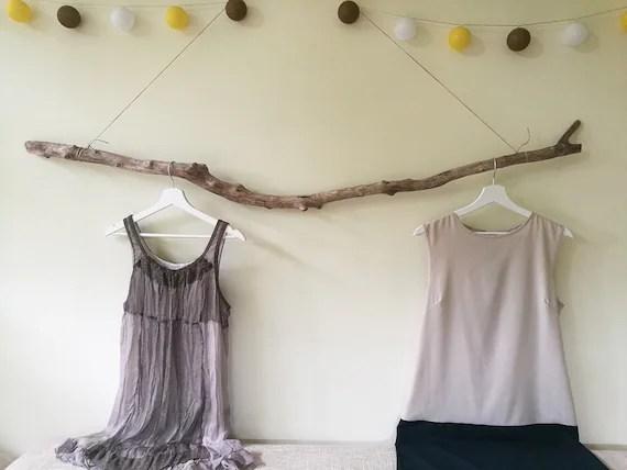 5 2 large hanging clothes rack driftwood garment rack etsy