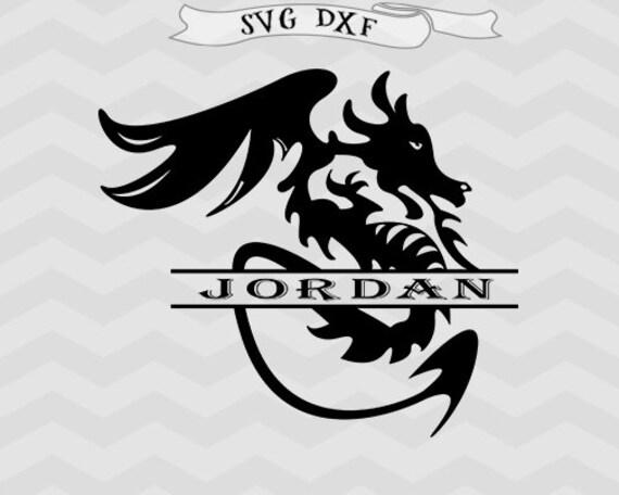 Download Dragon svg Dragon monogram svg Split monogram svg Dragon ...
