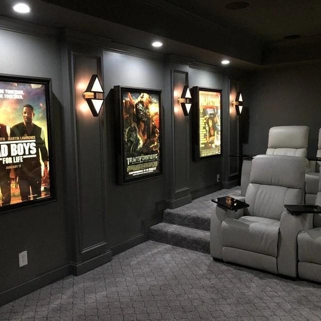 large frame movie poster led light box display frame cinema light up home theater sign