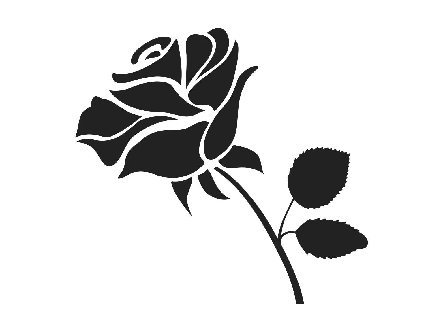 Rose Svg Rose Clipart Rose Clip Art Rose Silhouette Rose