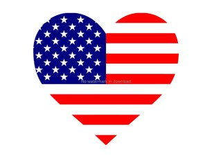 July 4Th Cutting Image Love America Heart American Flag image 0