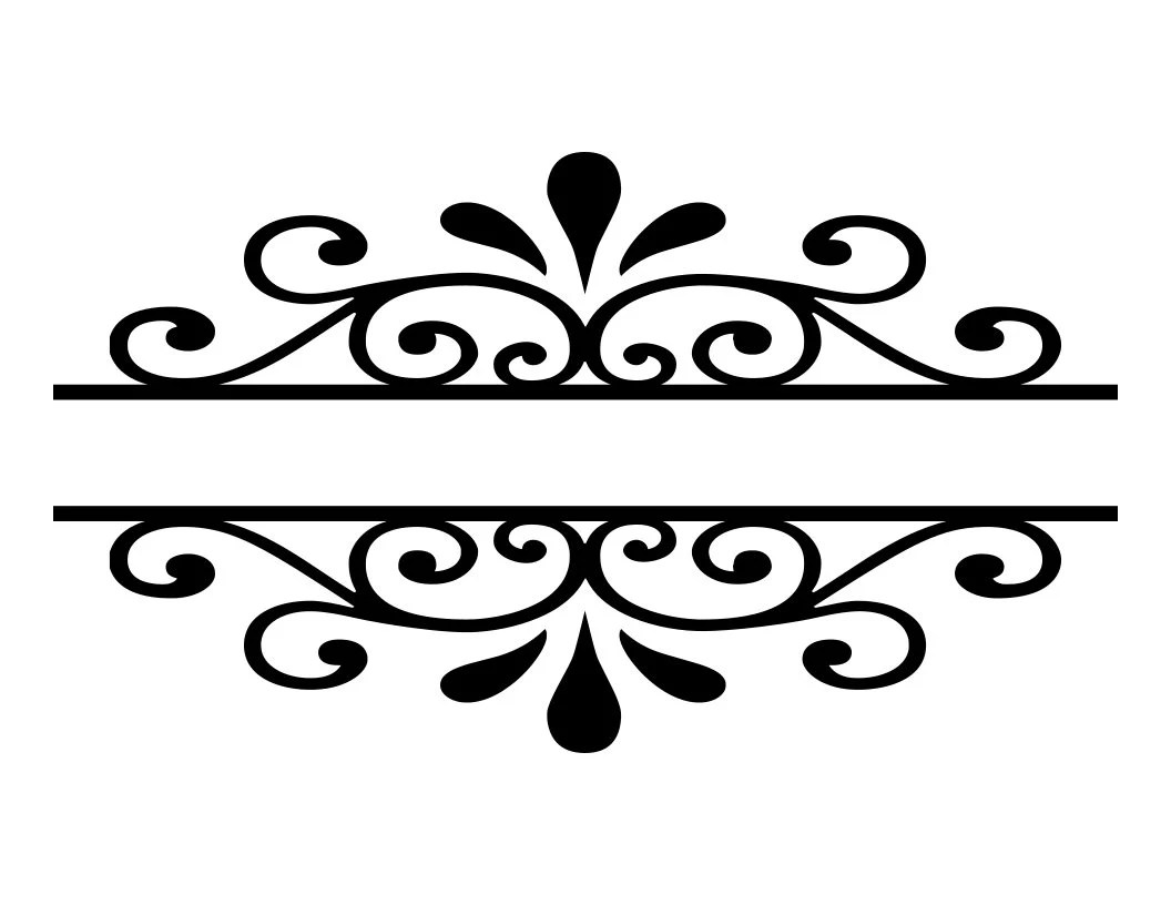 Download Scroll Border Flourish SVG Cutting File Decorative Word ...