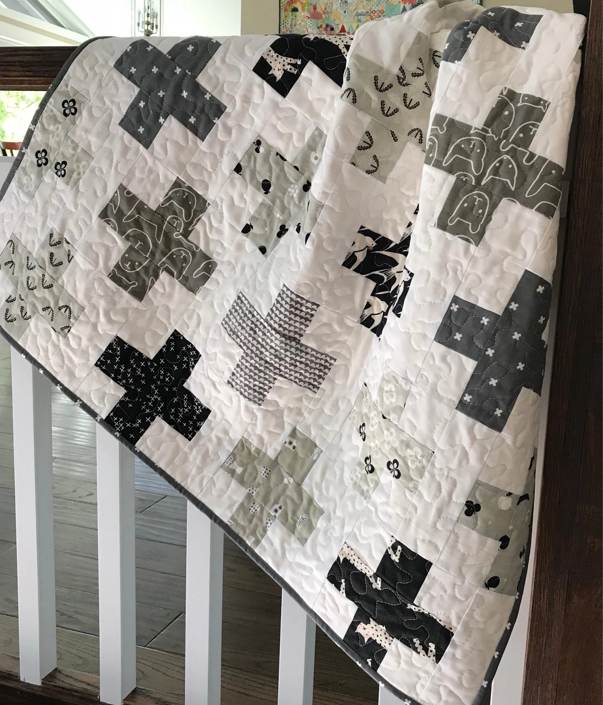 black white quilt etsy