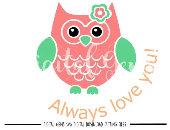 Download Owl always love you svg / dxf / eps / png files. Digital ...