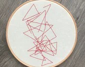 Art Inspired Embroidery: The Shrinking Universe