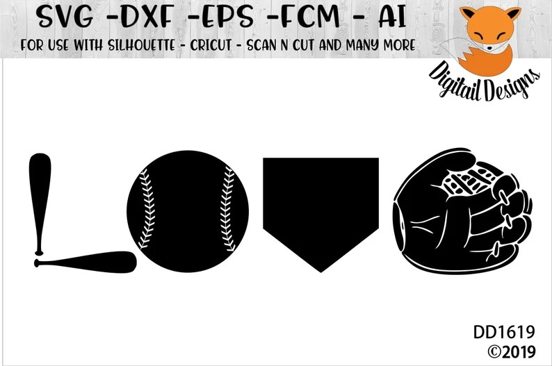 Download Baseball Love SVG png dxf eps fcm ai Cut File | Etsy