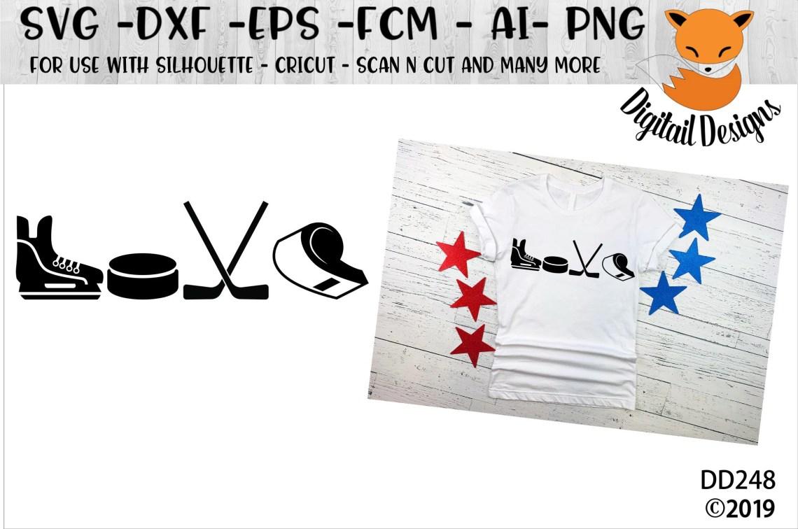 Download Hockey Love SVG png dxf eps ai fcm Hockey SVG | Etsy