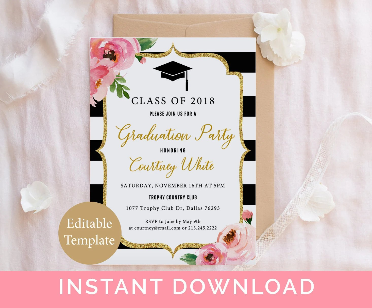 Double Sided Graduation Announcements