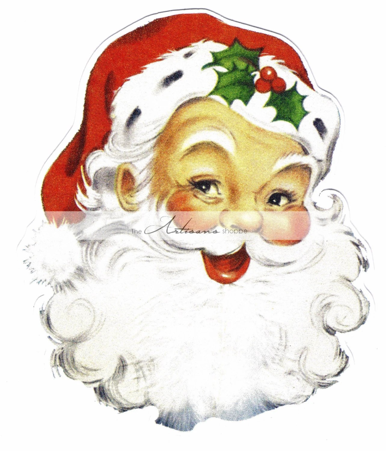 Instant Printable Download Santa Claus Jolly Old St Nick