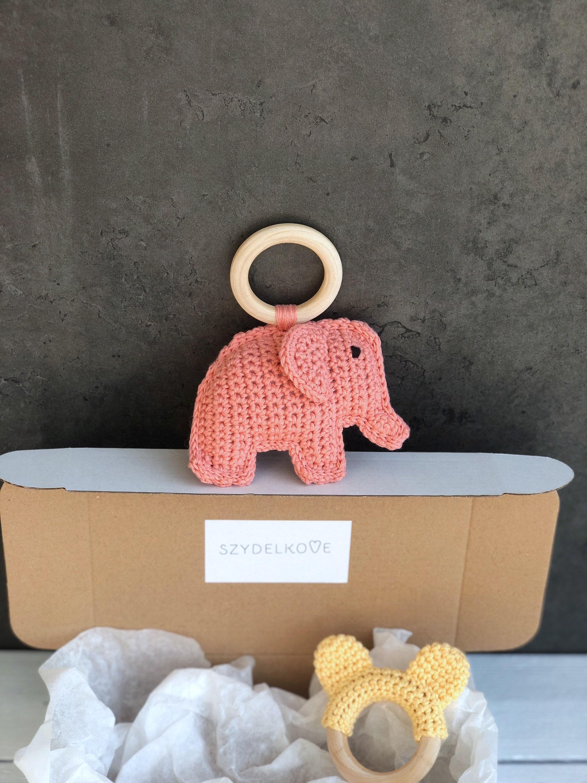 New Baby Gift Set Baby Shower Gift Crochet Rattle Animal image 4