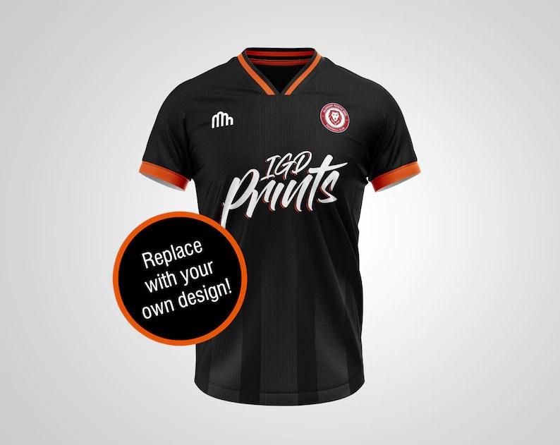 Download Football Soccer Shirt PSD Mockup Realistic Kit Jersey Mock ...