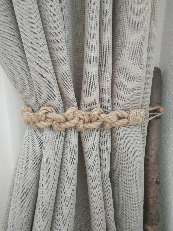 rustic jute curtain tie backs rope curtain tie back curtain holdback jute curtain tiebacks rope decor