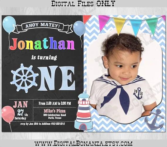 nautical birthday invitation little