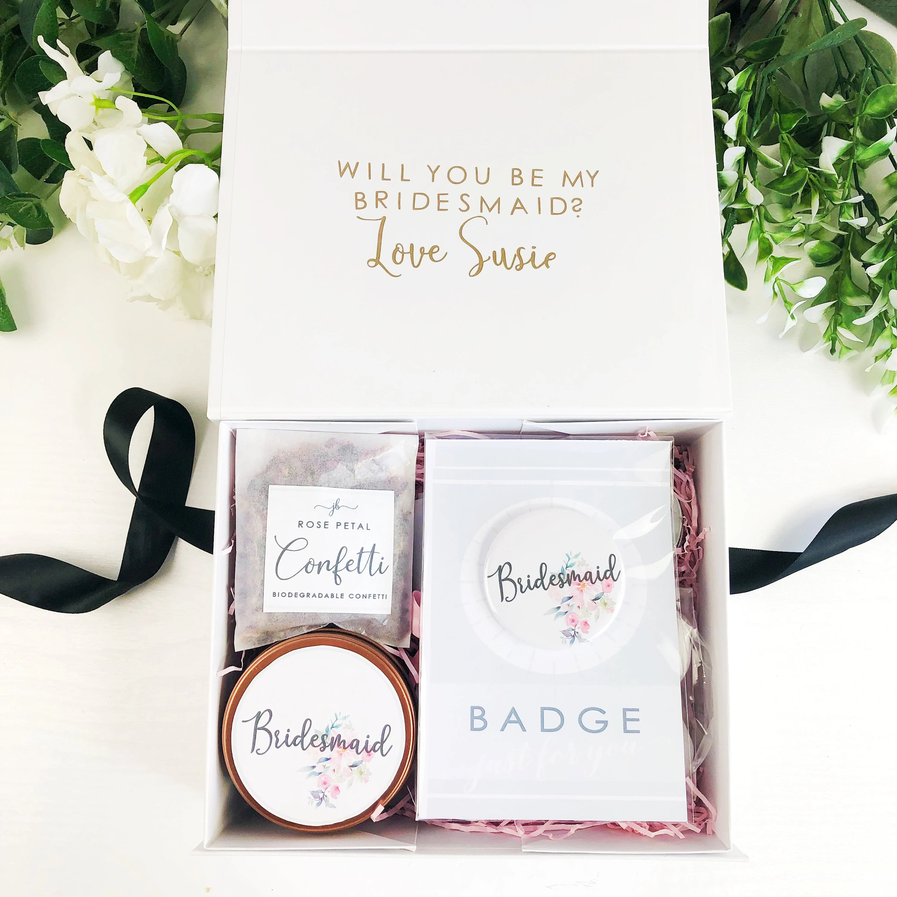 Pre filled will you be my Bridesmaid box. Personalised image 6