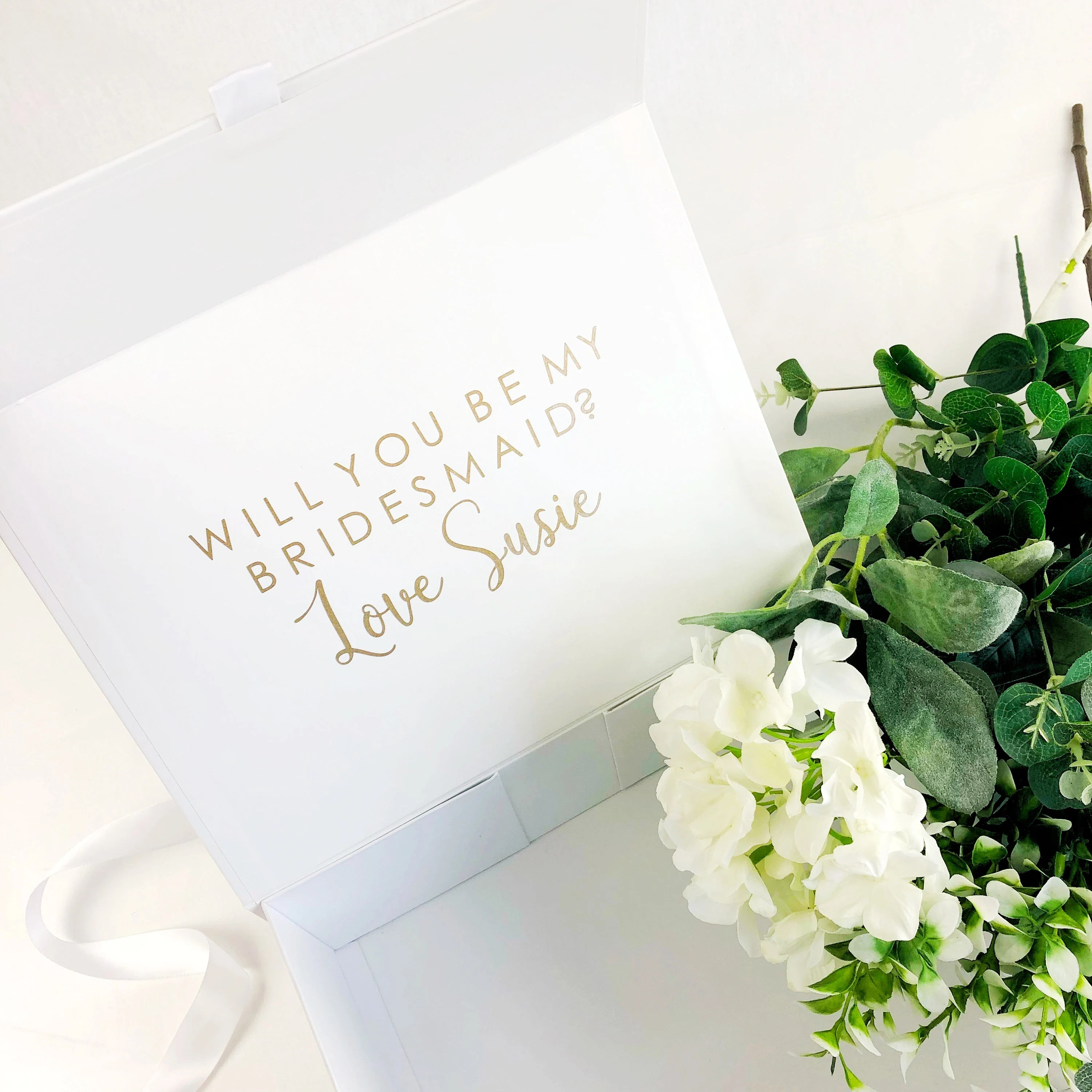 Pre filled will you be my Bridesmaid box. Personalised image 4