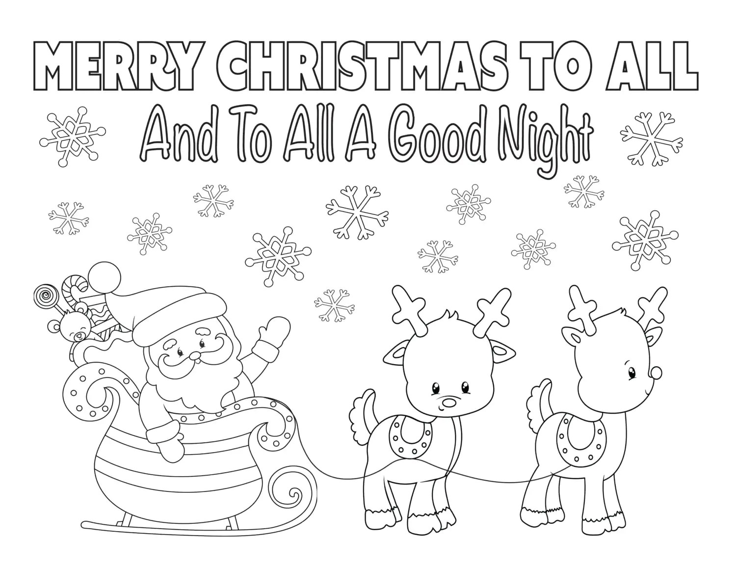 Christmas Coloring Page 8 5x11 Instant Download Printable