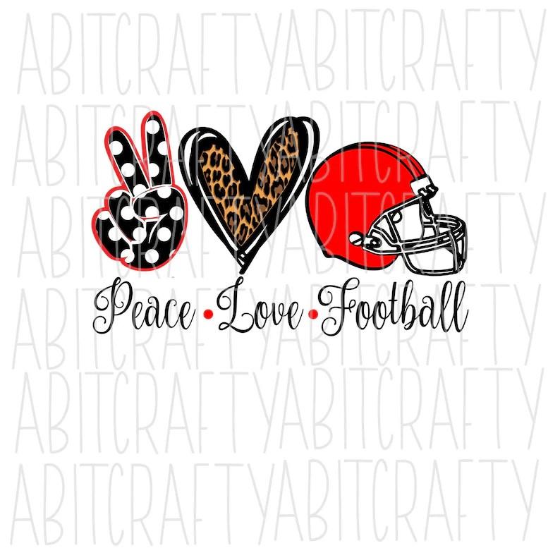 Download Peace Love Football SVG/PNG/Sublimation digital download ...