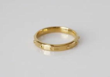 Alexandra Rosary Ring 14K 18K Gold Catholic Rosary Ring | Etsy
